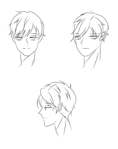 [Tutorial] How to draw anime face of male character